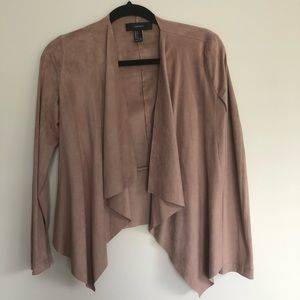 Forever 21 Suede Pink Long Sleeve